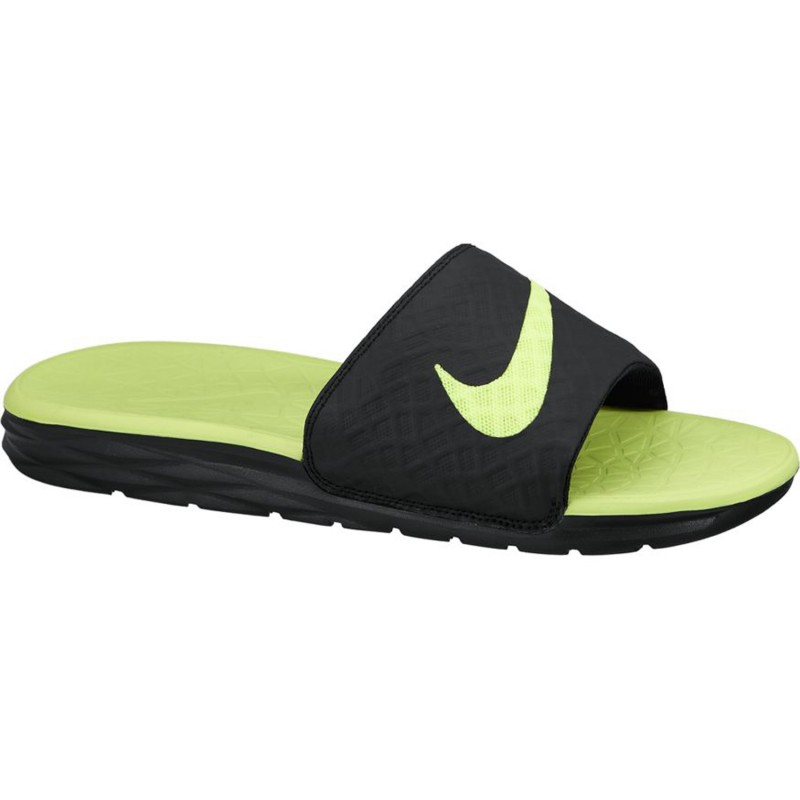 Nike Slipper Benassi Solarsoft Slide 2 black/neonyellow. Loading zoom