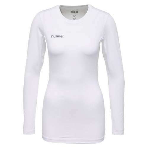 Hummel First Performance ls. Shirt Damen weiß