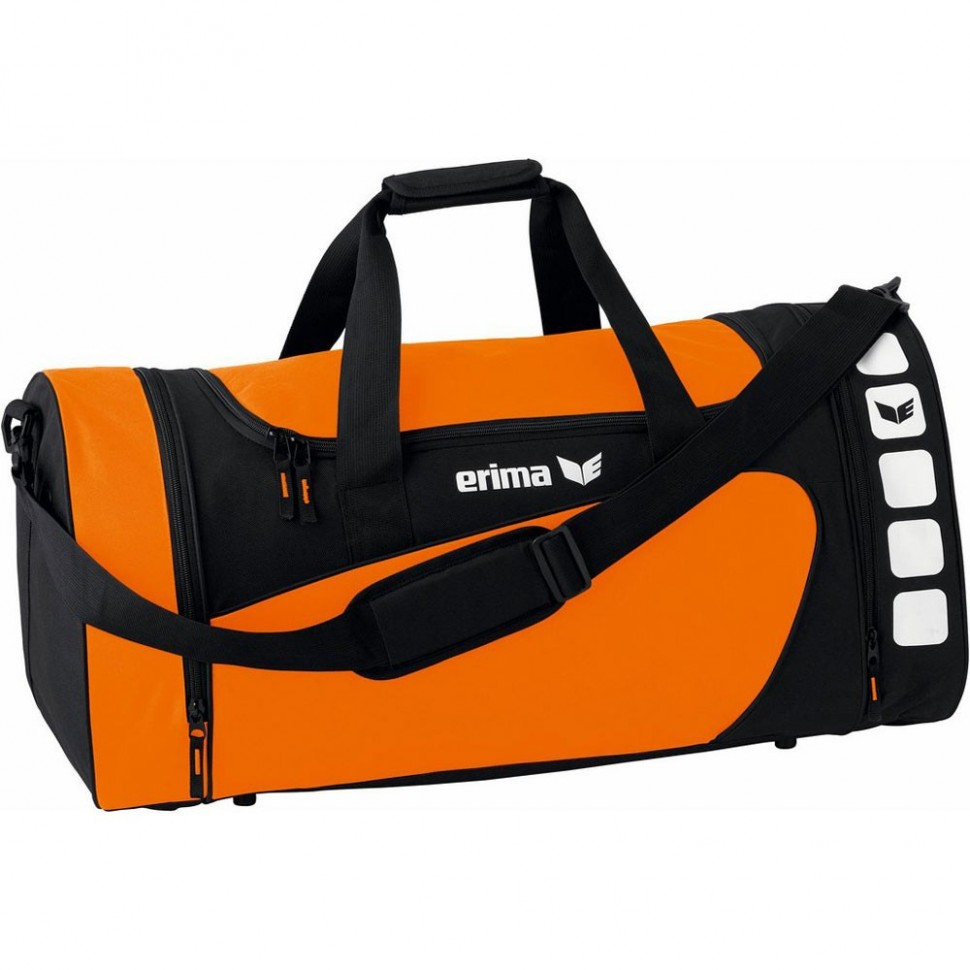Erima Sporttasche Club 5 Line orange/schwarz small