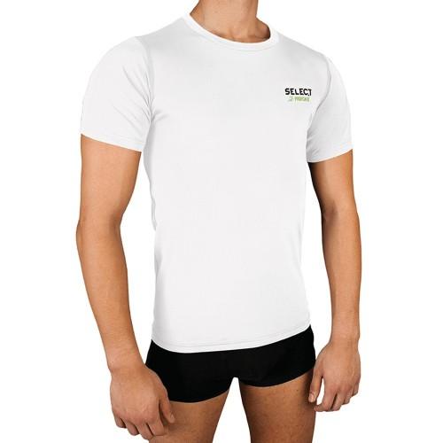 Select Kompressionsshirt Kurzarm weiß