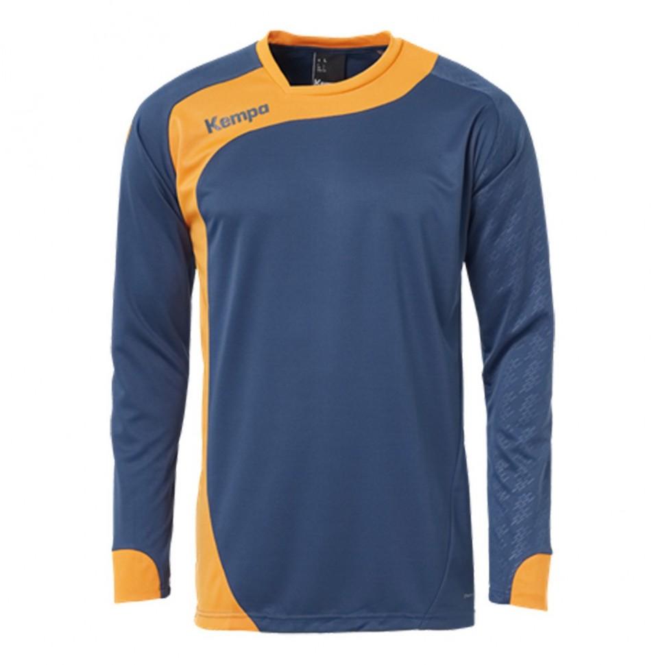 Kempa Peak Langarmshirt petrol/orange (Größe: S)