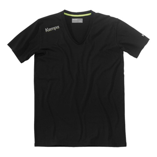 Kempa Kinder Core Baumwoll T-Shirt V-Kragen