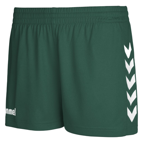 Hummel Woman Core Poly Shorts dunkelgreen