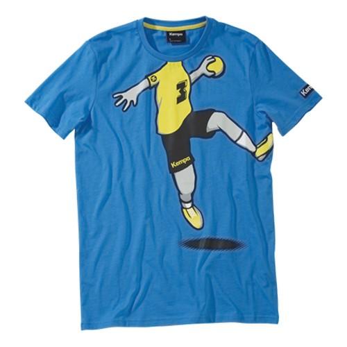 Kempa Cartoon Player T-Shirt kempablau