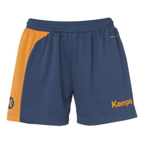 Kempa Peak Short Women petrol/orange