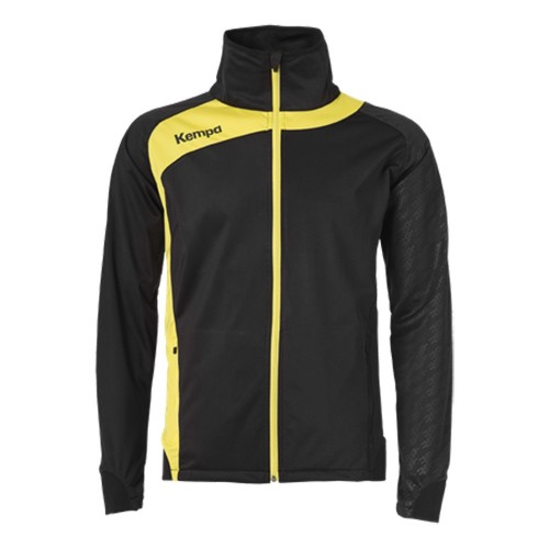 Kempa Peak Multi Jacket for Kids black/limonenyellow