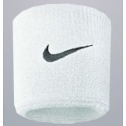 Nike Sweatbands NOS Swoosh Wristband white