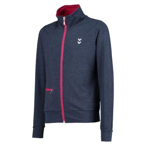 Hummel Zanny Zip Jacket SS16 für Kinder blauschwarz/pink