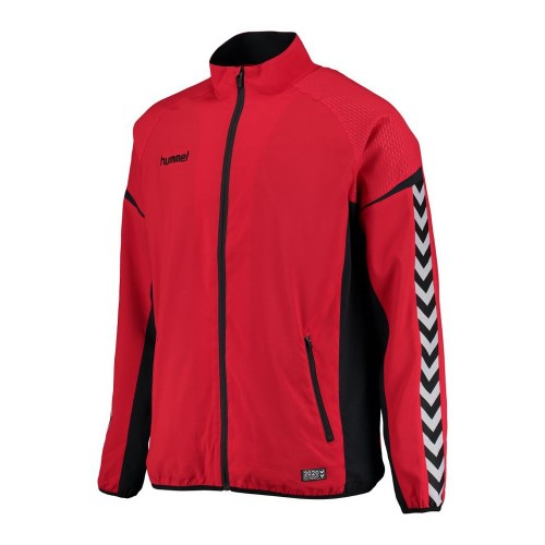Hummel Zip-Trainingsjacke Authentic Charge Micro rot