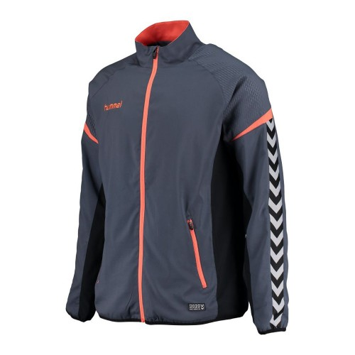 Hummel Zip-Trainingsjacke Authentic Charge Micro blaugrau