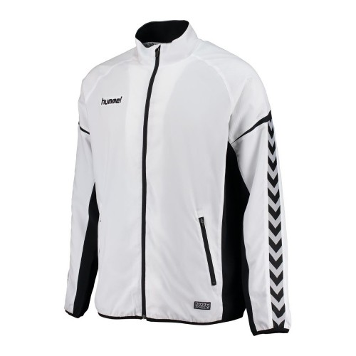 Hummel Zip-Trainingsjacke Authentic Charge Micro weiß