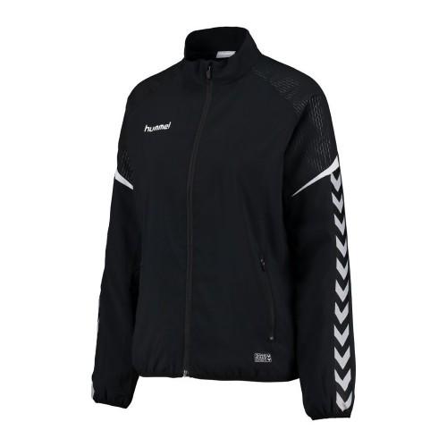 Hummel Damen-Zip-Trainingsjacke Authentic Charge Micro schwarz
