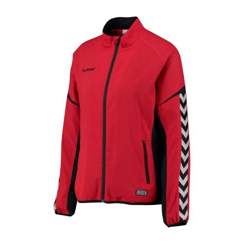Hummel Damen-Zip-Trainingsjacke Authentic Charge Micro rot