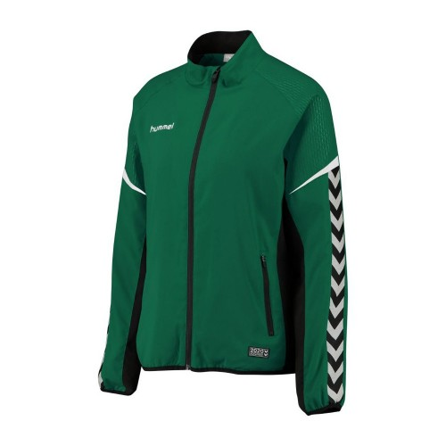 Hummel Damen-Zip-Trainingsjacke Authentic Charge Micro grün