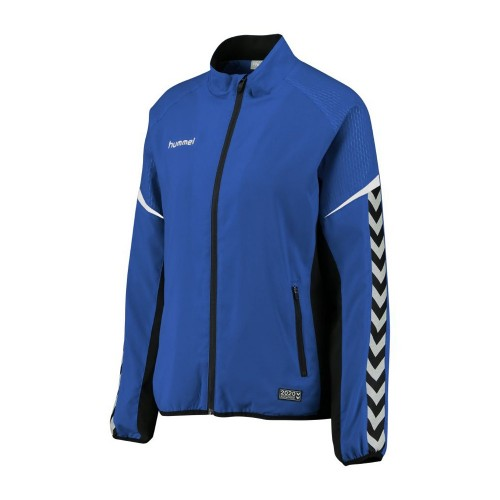 Hummel Damen-Zip-Trainingsjacke Authentic Charge Micro blau