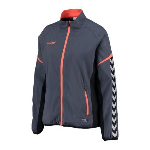 Hummel Damen-Zip-Trainingsjacke Authentic Charge Micro blaugrau