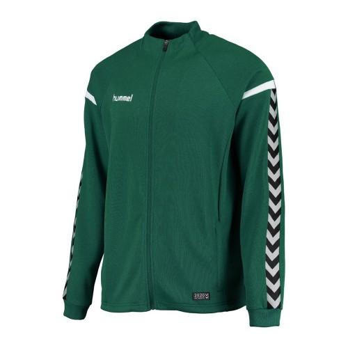 Hummel Kinder-Zip-Trainingsjacke Authentic Charge Poly grün