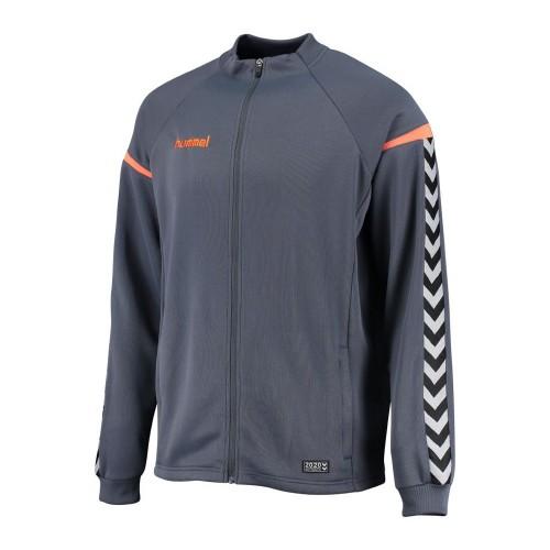 Hummel Kinder-Zip-Trainingsjacke Authentic Charge Poly blaugrau