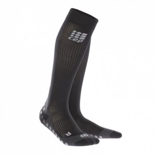 CEP Griptech Kompressions-Socken Damen schwarz/grau