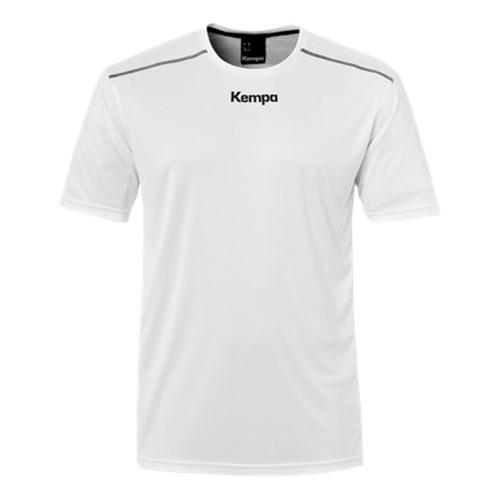 Kempa Poly Shirt Kinder weiß