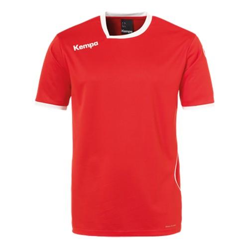 Kempa Kinder-Handballtrikot Curve rot/weiß