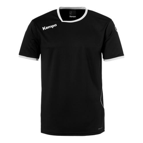 Kempa Kinder-Handballtrikot Curve schwarz/weiß