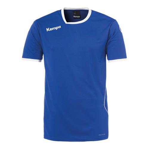 Kempa Kinder-Handballtrikot Curve royalblau/weiß