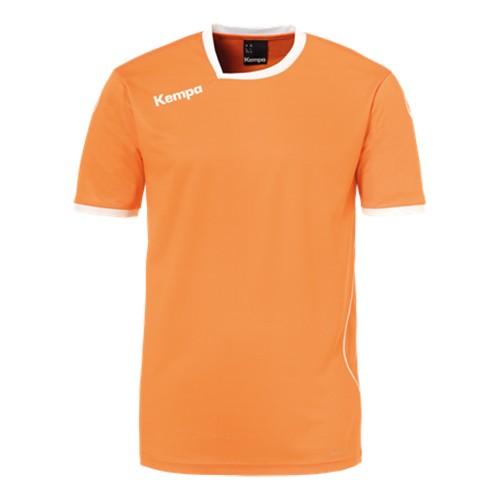 Kempa Kinder-Handballtrikot Curve orange/weiß