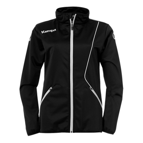 Kempa Curve Damen-Trainingsjacke Classic schwarz/weiß