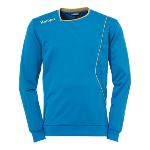Kempa Curve Kinder-Trainingssweatshirt kempablau/gold