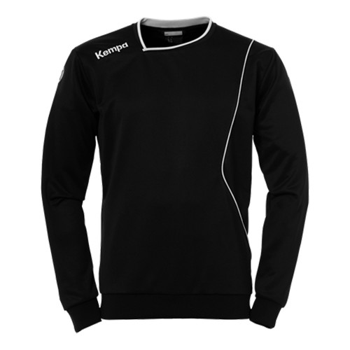 Kempa Curve Kinder-Trainingssweatshirt schwarz/weiß