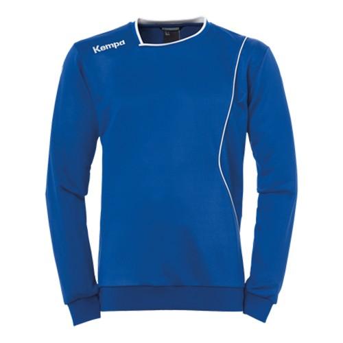 Kempa Curve Kinder-Trainingssweatshirt royalblau/weiß