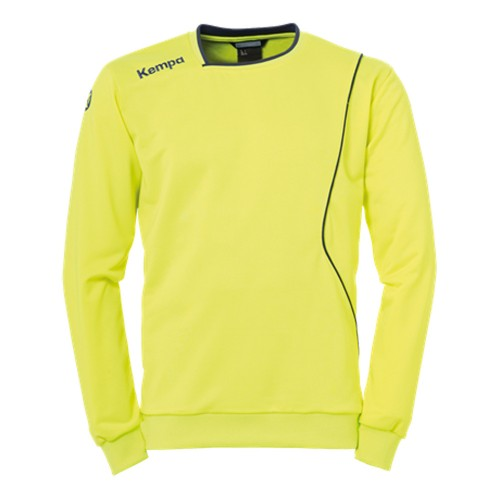 Kempa Curve Kinder-Trainingssweatshirt neongelb/marine