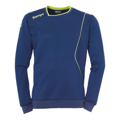Kempa Curve Kinder-Trainingssweatshirt marine/neongelb