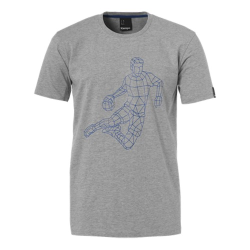 Kempa Polygon Player T-Shirt grau