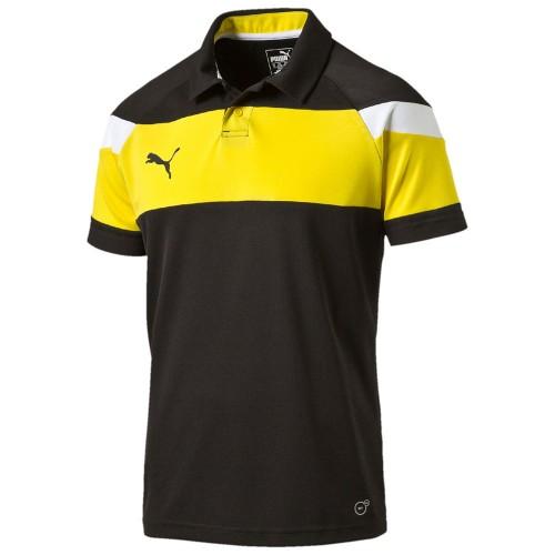 Puma Spirit II Polo schwarz/gelb/weiß