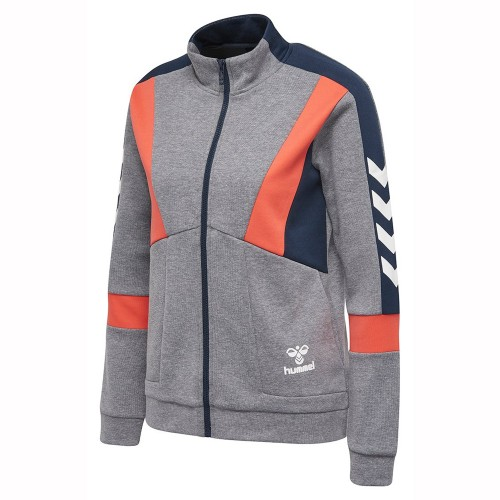 Hummel Classic Bee Merkur Zip-Jacke Damen grau/orange