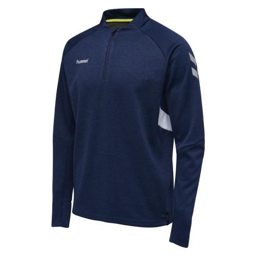 Hummel Tech Move ½ Zip Sweatshirt Kids marine flecked