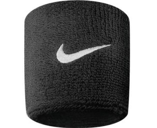 Nike Schweißbänder NOS Swoosh Wristband, schwarz Unisex 9380/4-010