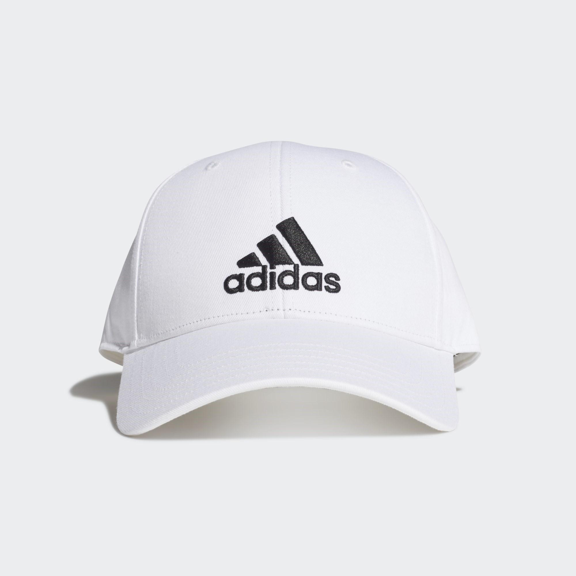 Adidas Baseball Kappe, weiß