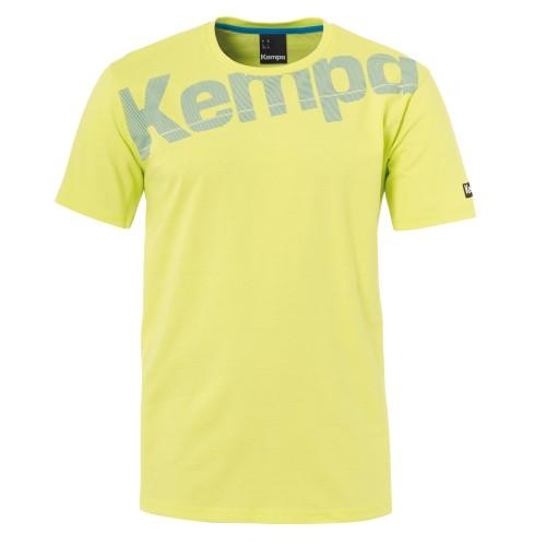 Kempa Core Baumwoll T-Shirt frühlingsgelb