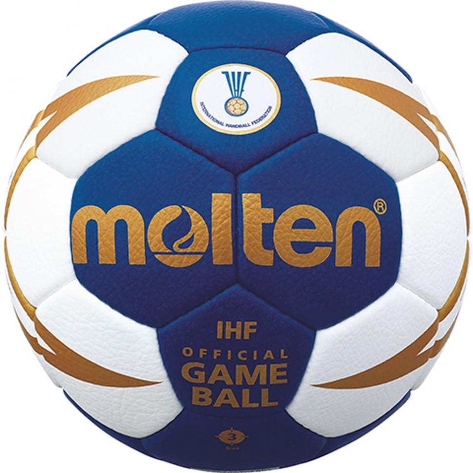 Molten Handball H3X5000 white/blue/gold