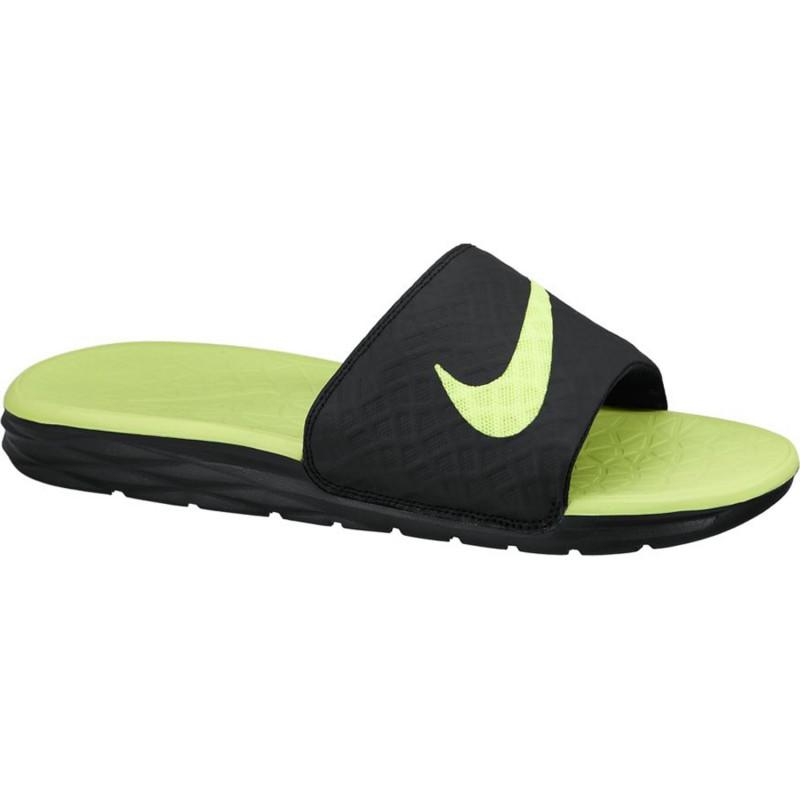 6e5a6191d735 Nike Slipper Benassi Solarsoft Slide 2 black neonyellow. Loading zoom