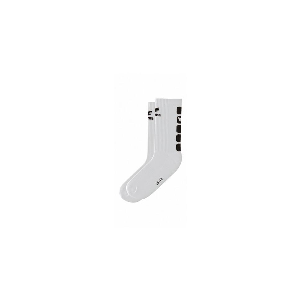 Erima Handball Socke weiß/schwarz