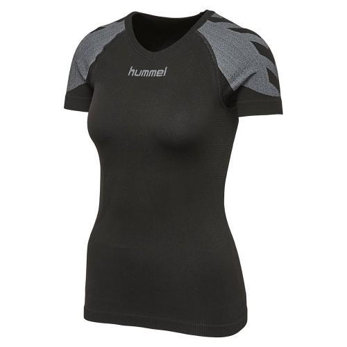 Hummel Damen-Funktionsshirt First Comfort SS Jersey schwarz/grau