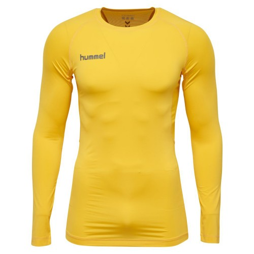 Hummel First Performance ls. Shirt Kinder gelb