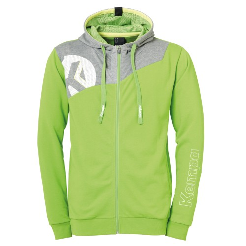 Kempa Core 2.0 Hooded Jacket Kids light green/gray