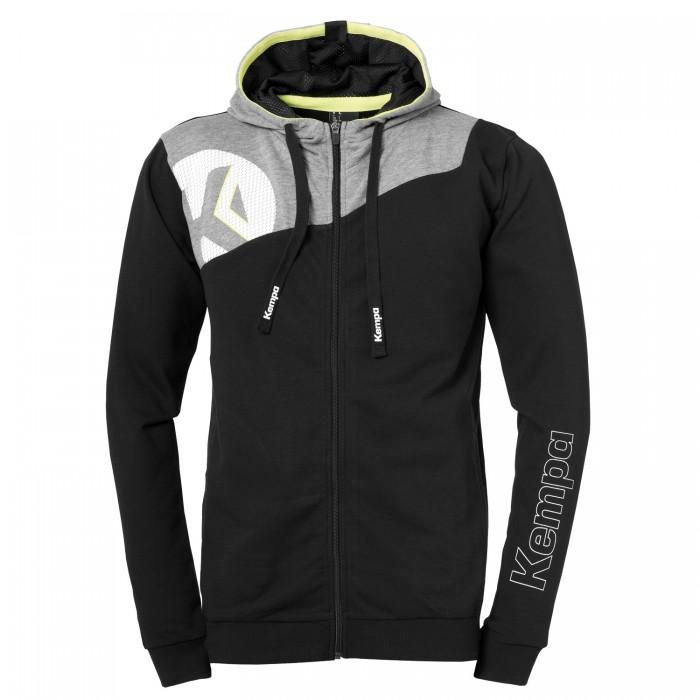 Kempa Core 2.0 Hooded Jacket Kids black/gray