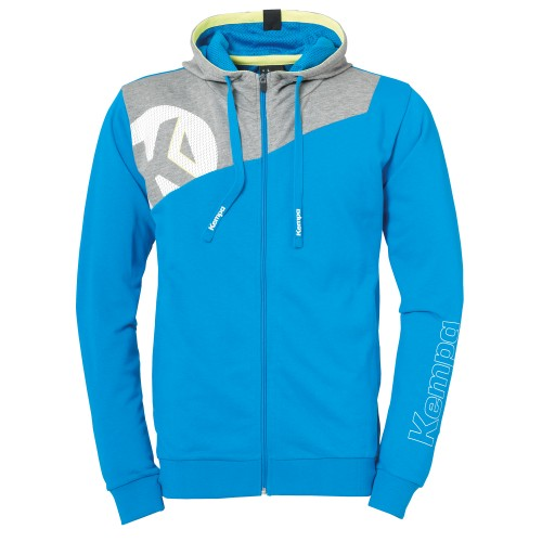 Kempa Core 2.0 Hooded Jacket Kids light blue/gray