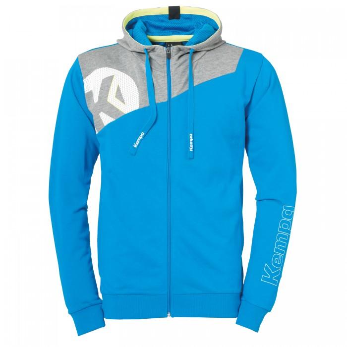 Kempa Core 2.0 Hooded Jacket Kids light blue/gray